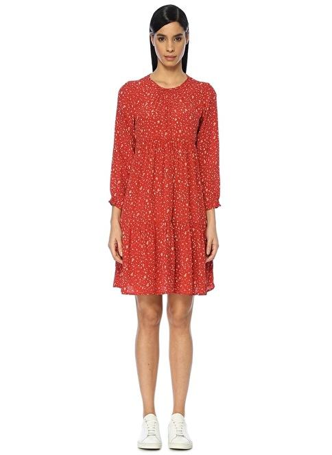 Beymen Club Çiçekli Mini Elbise Kırmızı